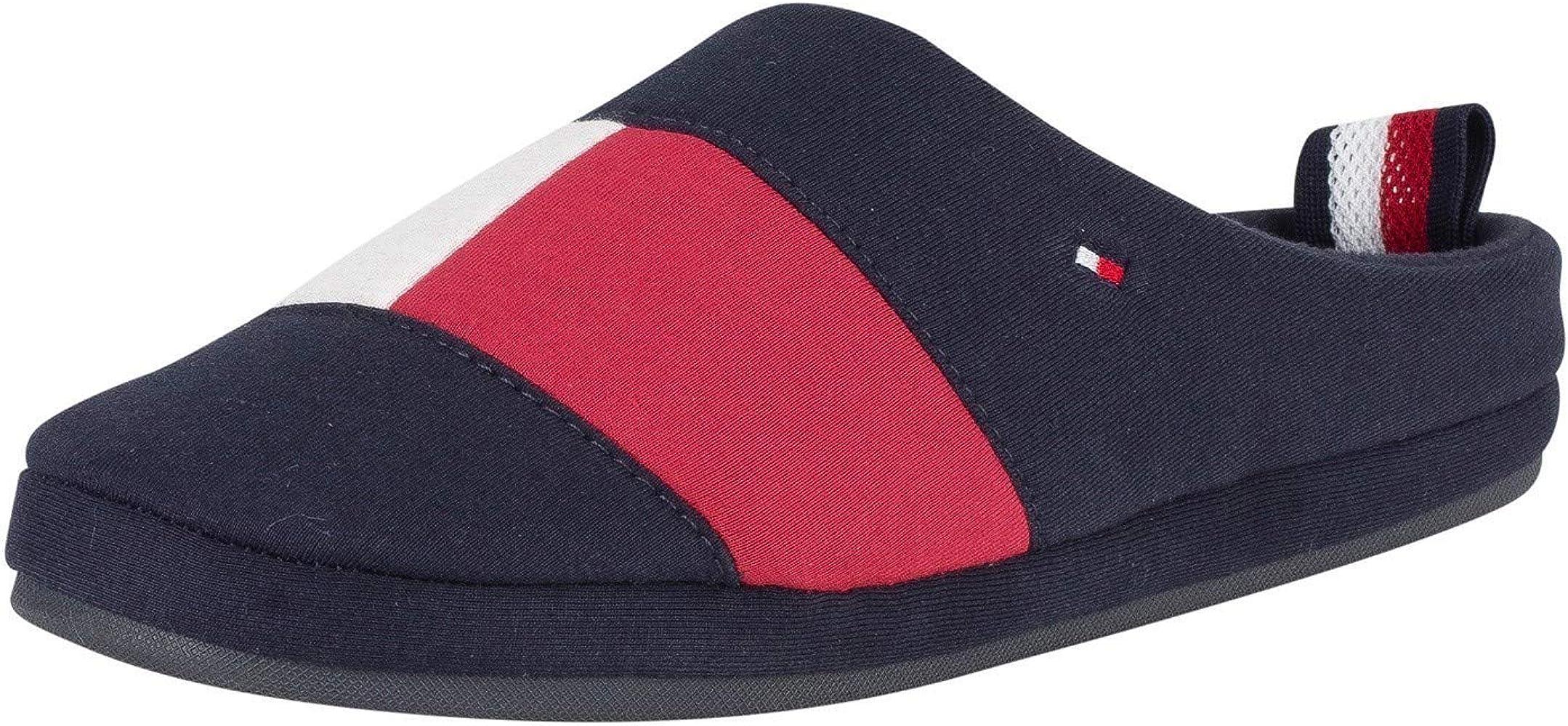 Tommy Hilfiger de los Hombres Zapatillas de casa de Bandera, Azul, 43/44 EU: Amazon.es: Zapatos y complementos