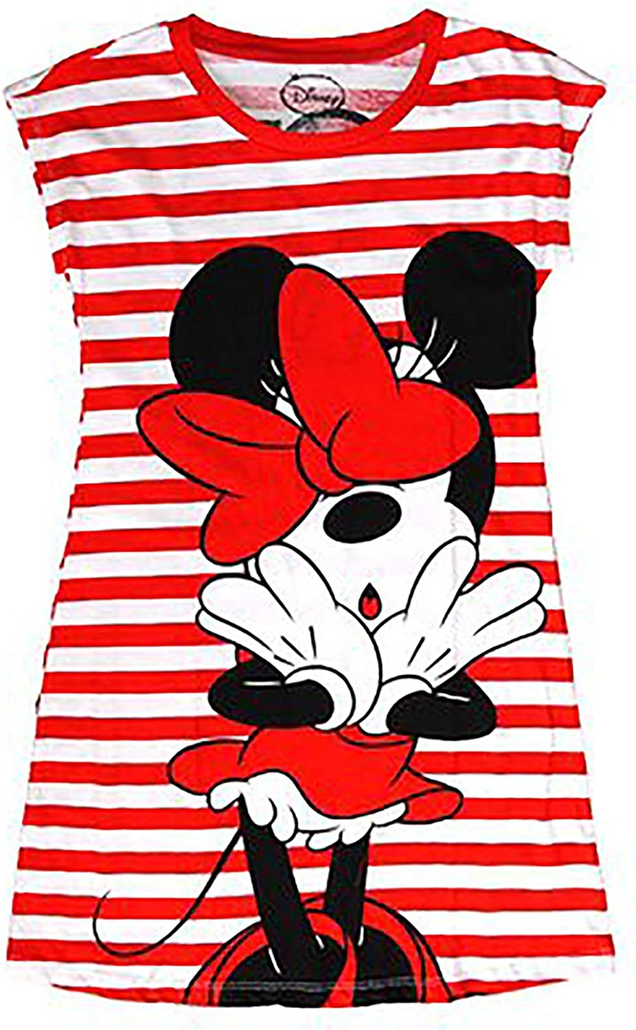 Minnie Front and Back Disney Classic Minnie Mouse Nightie T Shirt Red