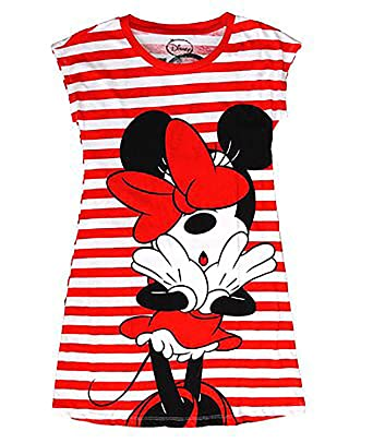 8b0157029ee03 Amazon.com: Disney Minnie Mouse Night Gown T Shirt - Front and Back Print- Red  & White: Clothing