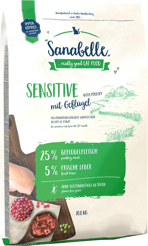 Sanabelle Sensitive | con Aves de Corral frescas | Comida seca para gatos adultos con sensibilidad nutricional