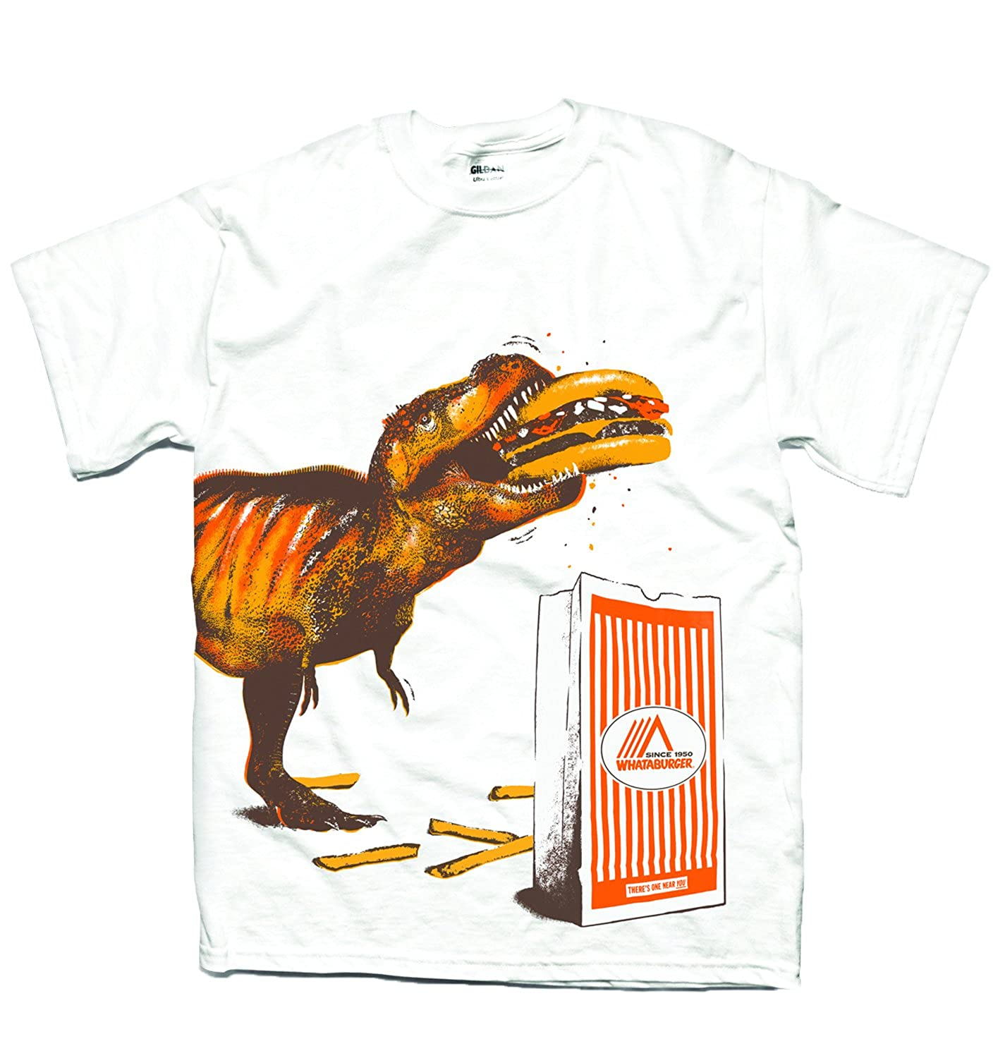 Amazon.com: Whataburger Mens T-rex T-shirt DIRECT FROM WHATABURGER ...