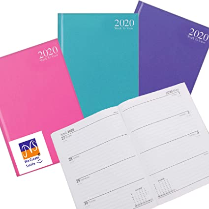 JMS® - 2020 Agenda semanal A5 de colores pastel para ...