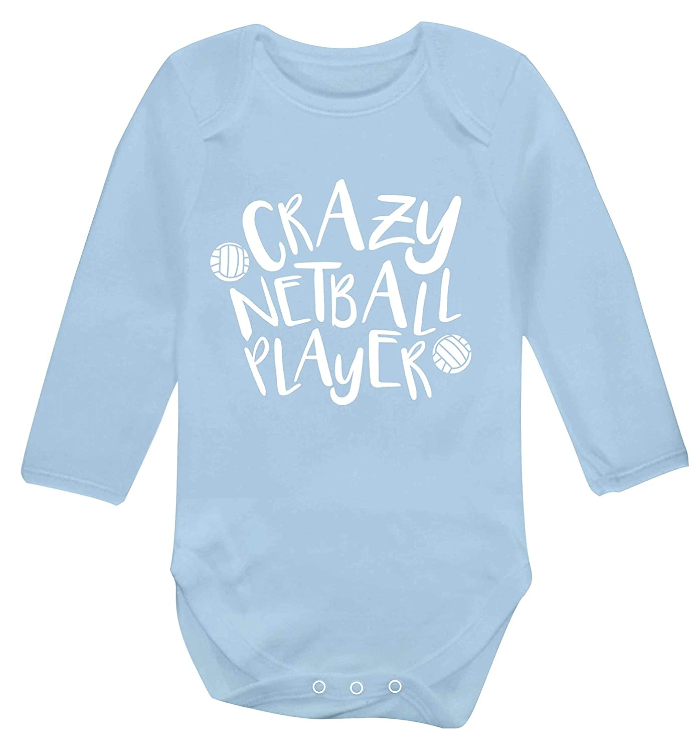Flox Creative Long Sleeved Baby Vest Crazy Netball Player