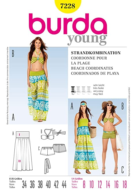 Burda Ladies Young Fashion Easy Sewing Pattern 7228 - Bikini ...