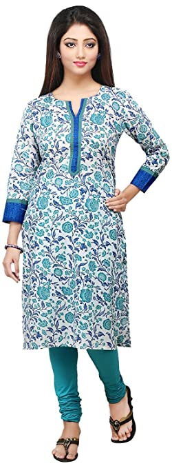 Vastra Vinod Women's Cotton Kurta Women's Kurtas & Kurtis at amazon