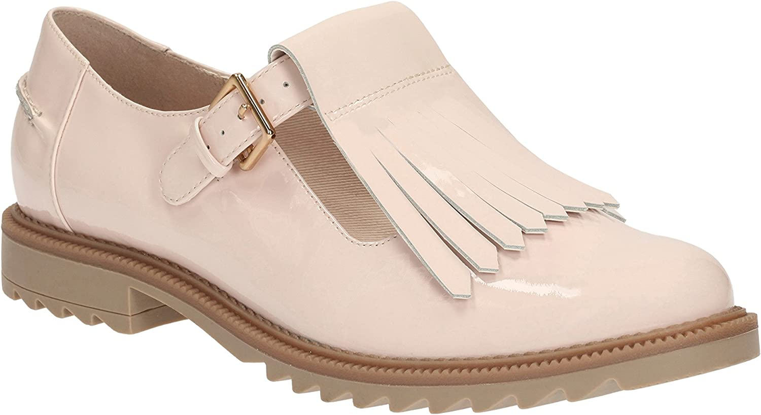 Clarks Griffin Mia Leather Shoes In
