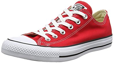 fe489f03a8dd4d Image Unavailable. Image not available for. Color  Converse Unisex Chuck  Taylor All Star Ox Low Top Sneakers Red M9696