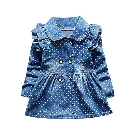 e5e8b7f5a8 Amazon.com  PENATE Baby Girl Denim Dress