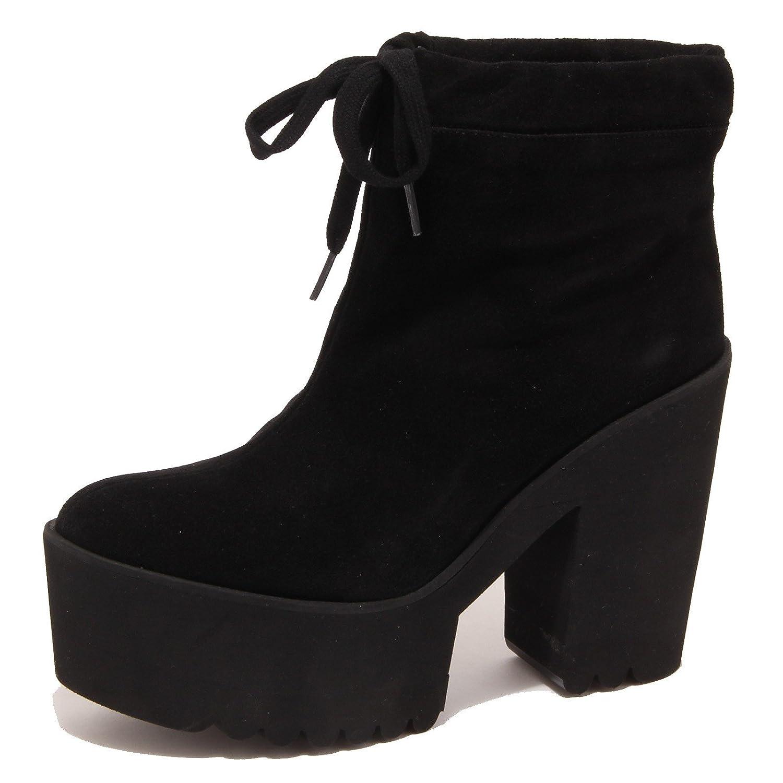 2123P tronchetto donna PALOMITAS stivale nero suede shoe boot woman39 EU Nero