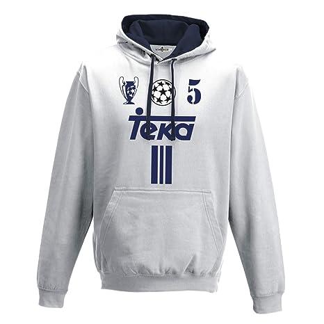 KiarenzaFD Sudadera Capucha Bico Fútbol Vintage Zidane Madrid 5 Temporada 01 – 02 Champion Hombre,