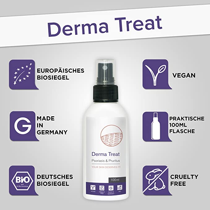 DERMA TREAT | Combate la Neurodermatitis y Psoriasis con Derma Treat Spray | BIO Aloe Vera, Aceite de Magnesio y Aceite Omega 3 | Alternativa Natural al ...