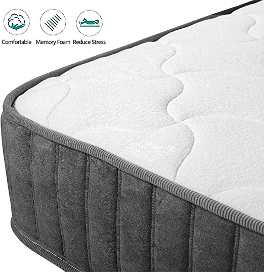 Yaheetech 3FT Single Mattress 9-Zone Pocket Sprung Mattress with Memory Foam - Best Pocket Springs