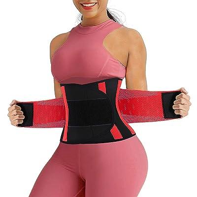 RACELO Women Sauna Waist Trainer Trimmer Belt Weight Loss Gym Sweat Belly Band Girdle Slimming Body Shaper