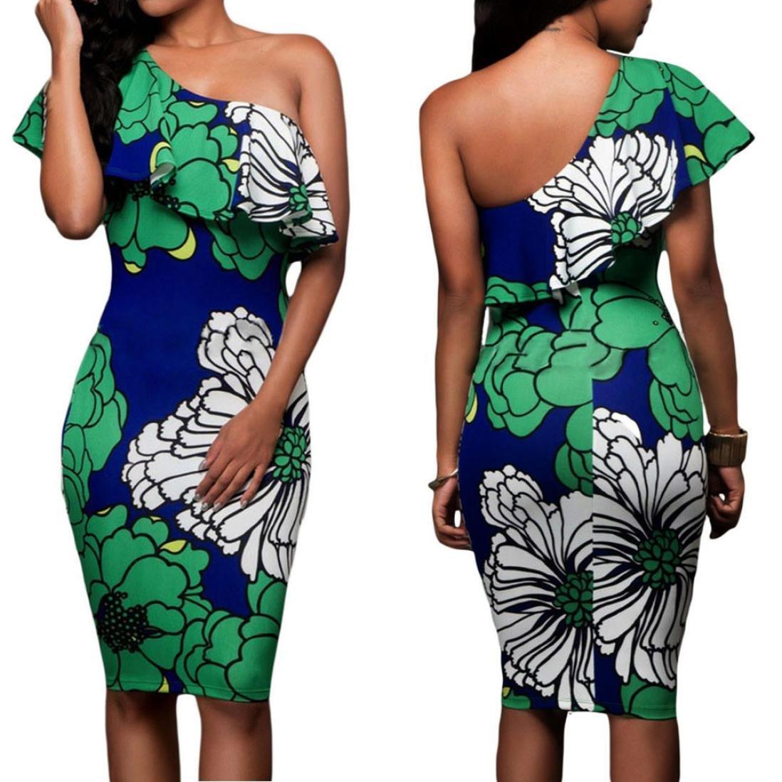 GoodLock Women Girls Fashion Dress Lady Female Summer Casual Party Cocktail Beach Short Mini Dress