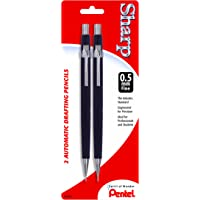2-Pack Pentel Sharp Automatic Pencil 0.5mm Black Barrels