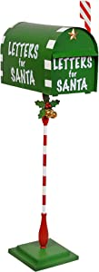 Christmas Decorations - Letters for Santa Claus Christmas Mailbox Metal Holiday Decor - Christmas Cards to the North Pole