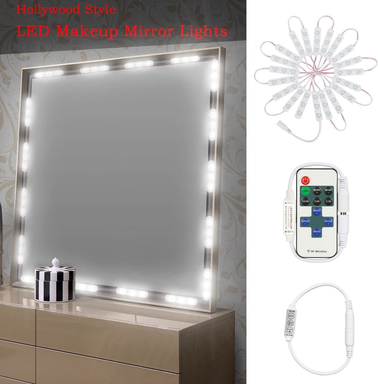 Dimmable ...  sc 1 st  Amazon.com : bathroom vanity led lights - azcodes.com