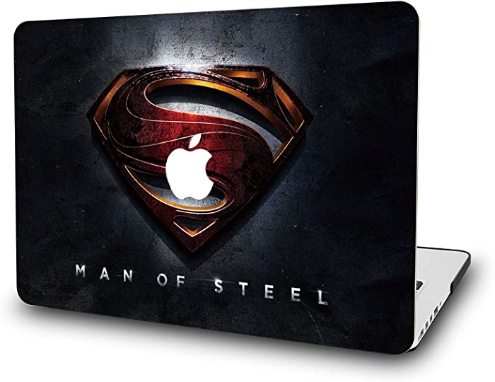 Case for MacBook Pro 13 Inch 2018-L2W Laptop Accessories Hard Plastic Printed Cover Compatible with Mac Pro 13 with Retina & USB-C Ports, Model: A1989/A1706/A1708, Protection Shell of Design Superman