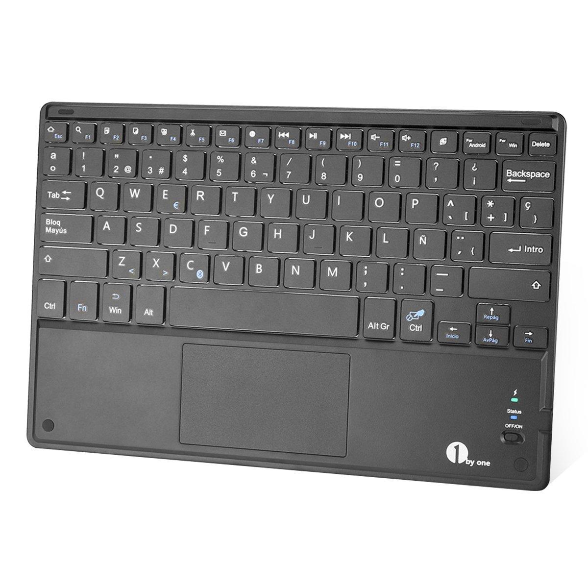 byone Ultra delgado teclado bluetooth con una función de multi touchpad y