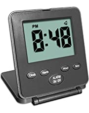 Digital Travel Alarm Clock - No Bells, No Whistles, Simple, Basic, Battery Operated, Alarm, Snooze, Small and Light, ON/OFF Switch