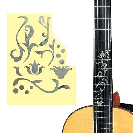 ultnice pegatinas décalques marquetería pegatinas para guitarra Frette rotuladores (plata)