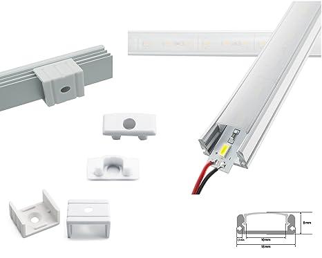 LED Eckprofil Unterbauleuchte Alu Lichtleiste 50 cm 3 Watt SMD warmweiß//kaltweiß