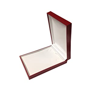 4 3/4''Wx7 3/8''Dx1 1/8''H Leatherette Necklace Pendent Gift Box Jewelry Organizer Storage Case
