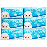 Cloud Wipes Pure Dry Cotton Baby Wipes Soft Durable Unscented Cloth Tissue for Sensitive Skin (2-Pack 200 Count)