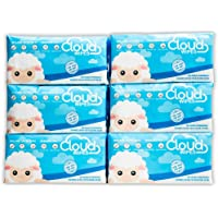 Cloud Wipes Pure Dry Cotton Baby Wipes Soft Durable Unscented Cloth Tissue for Sensitive Skin (6-Pack 600 Count)