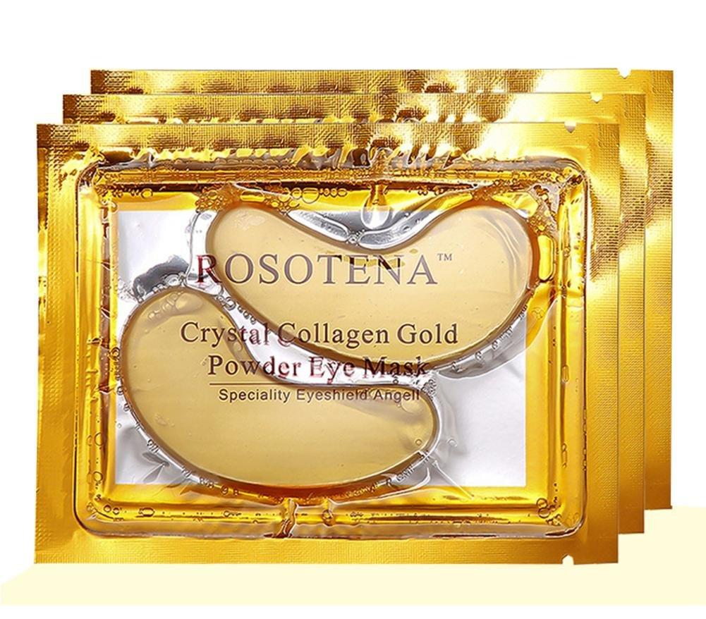 10PCS Gold Eye Mask Collagen Eye Mask–antirughe riduce gli occhi borse e occhiaie allevia affaticamento degli occhi anti-invecchiamento palpebra idratante haodene