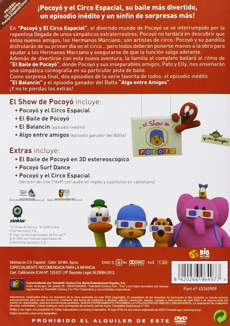 Amazon.com: Pocoyo Y El Circo Espacial (Import Movie) (European Format - Zone 2) (2012) N/A; David Cantolla: Movies & TV