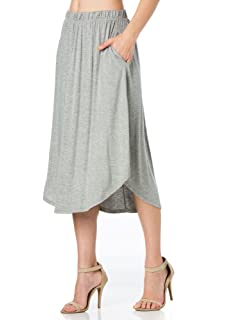 Fashion California FACA Womens High Waist Shirring Maxi