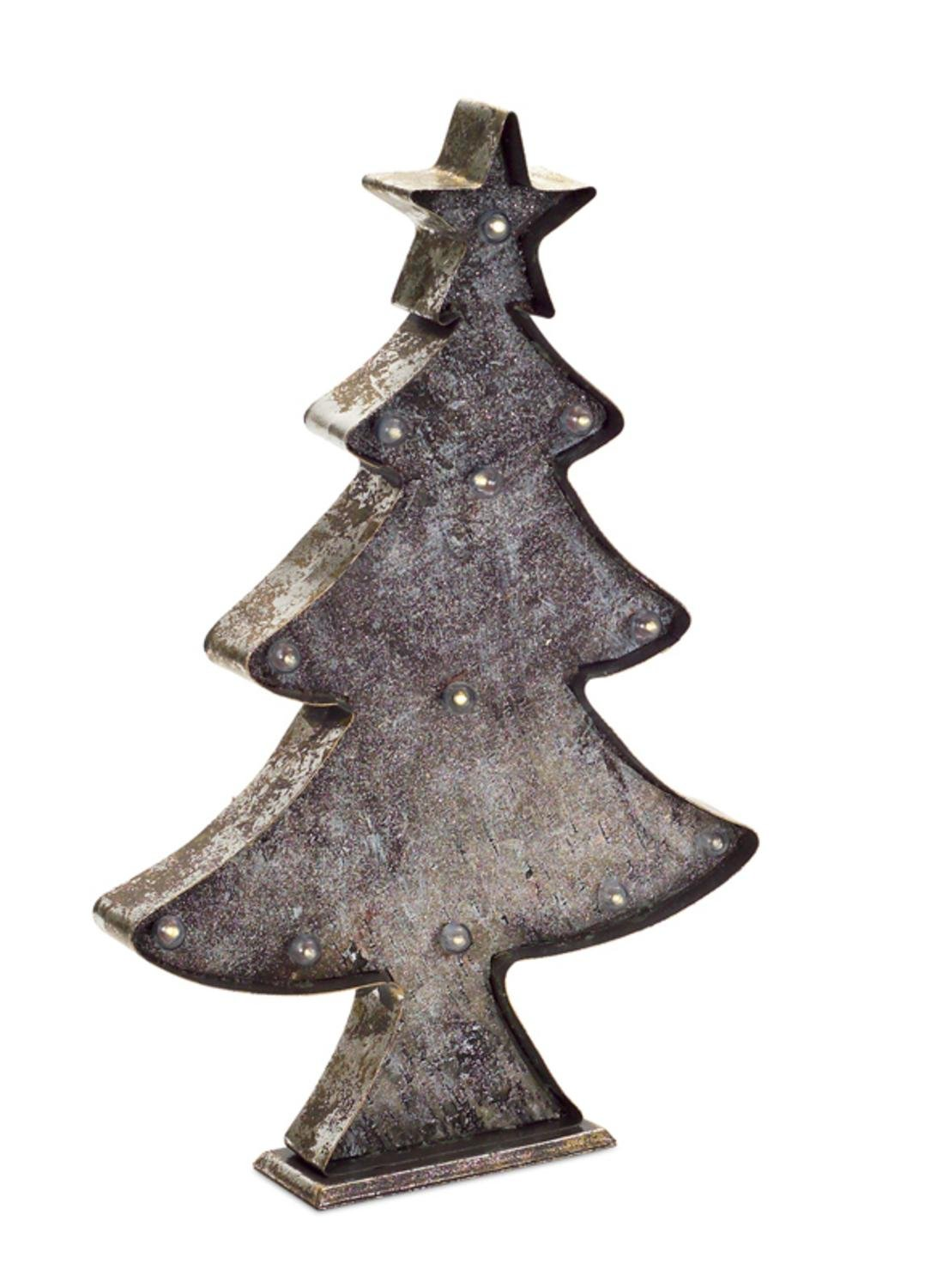 Melrose 19'' Country Style Rustic Distressed LED Battery Operated Christmas Tree Tabletop