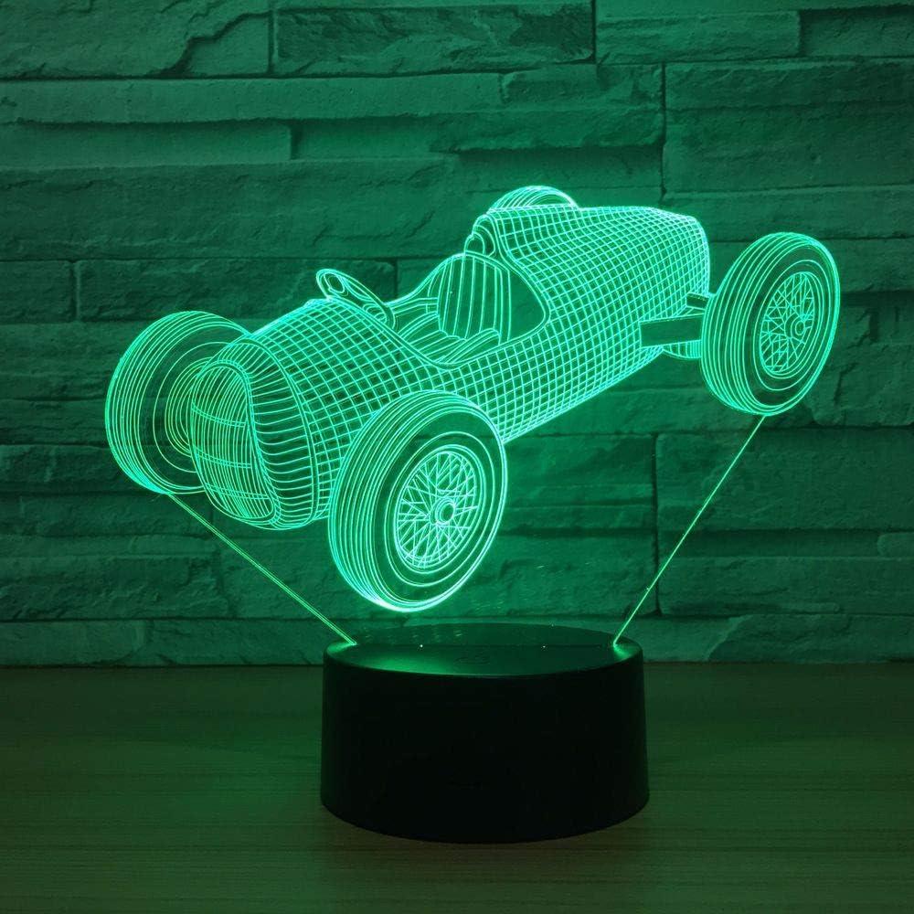 Xiujie Old Racing Usb Luz Nocturna 7 Colores Led 3D Ambiente Luz Luz Nocturna Visible Iluminación Interior Rider Amigo Regalos