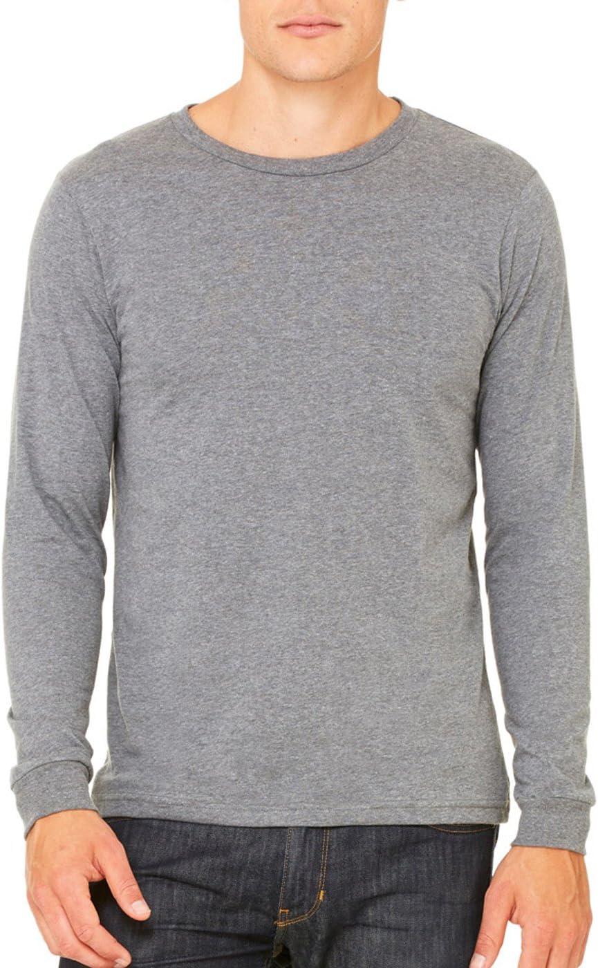 Canvas 3501 Mens Jersey Long-Sleeve T-Shirt Extra Large Deep Heather