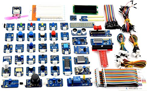 Adeept 46 Modules Ultimate Sensor Kit for Raspberry Pi 3,2 B/B+, BMP180, DHT11, with C and Python Code, 150 Pages PDF Guidebook