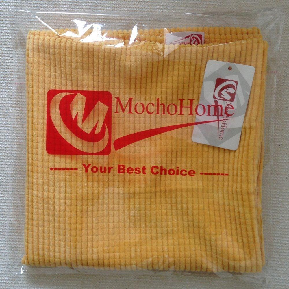 M MOCHOHOME Corduroy Decorative Solid Rectangular Throw Pillow Cover Case Pillowcase Cushion Sham - 24'' x 16'', Beige