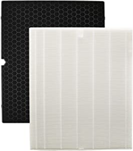 Colorfullife 116130 Replacement Filter H for Winix 5500-2 Air Purifier, HEPA Filter and Activated Carbon Filter Combo Pack, Replacement Part 116130