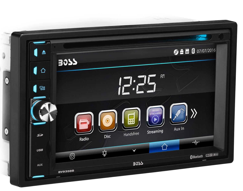 BOSS Audio BV9358B Double Din, Touchscreen, Bluetooth, DVD/CD/MP3/USB/SD AM/FM Car Stereo, 6.2 Inch Digital LCD Monitor, Wireless Remote
