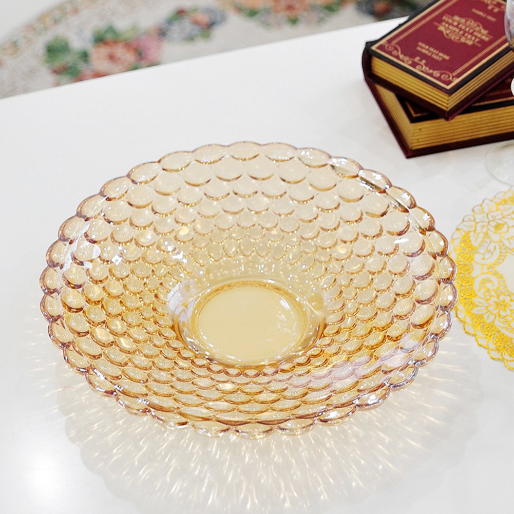 European fashion lead-free glass fruit bowl modern living room set fruit large wedding candy box-J