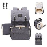 Baby Wickelrucksack Wickeltasche mit Wickelunterlage Multifunktional Segeltuch Große Kapazität Babytasche Kein Formaldehyd Reisetasche für Unterwegs