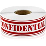 """CONFIDENTIAL 1"""" x 4"""" Special Handling Instructions Labels Stickers (Red / 300 labels per roll / 1 rolls)"""