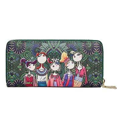 Logobeing Bolso de Mano Fiesta Carteras Bosque Patrón Impresión Bolsos Con Cremallera Monederos Para Mujer (Verde): Amazon.es: Zapatos y complementos