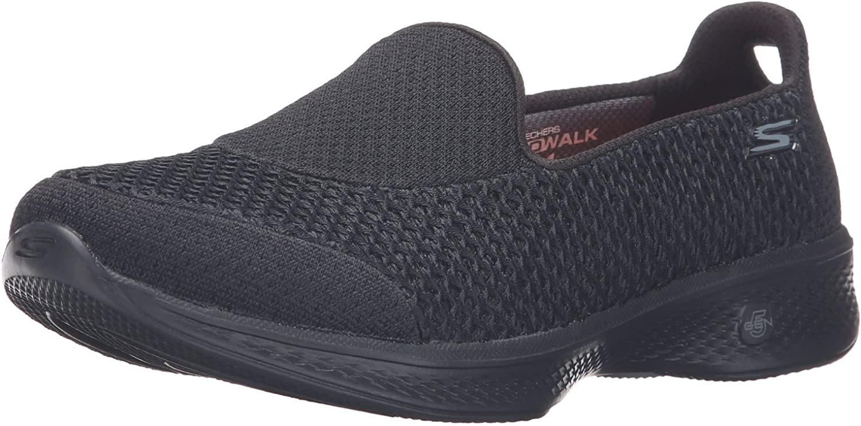 Skechers, Damen Sneaker Go Walk 4 Kindle, knöchelfrei, Schwarz, Größe 40, schwarz rosa Größe: 40.5 EU