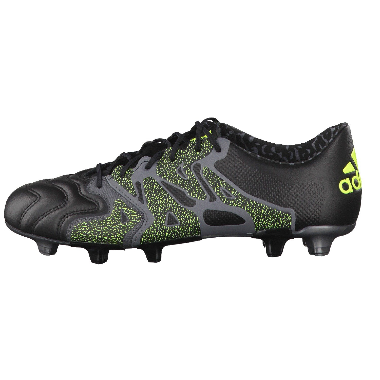ccb828d446db adidas X 15.1 Leather FG AG Football Boots - Adult - Core Black Night  Metallic Solar Yellow  Amazon.co.uk  Shoes   Bags
