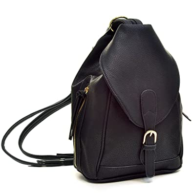 Amazon.com: Dasein Mini Faux Leather Convertible Backpack Purse ...