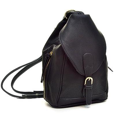 Amazon.com | Dasein Mini Faux Leather Convertible Backpack Purse ...