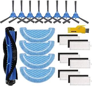 Recambio Accesorios para Cecotec Conga 1090 Robot Aspirador Repuestos Paquete de 1 Cepillo Principal&6 filtros Hepa& 8 cepillos Laterales&4 Trapos de fregona