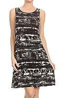 ReneeC. Women's Vivid Print Sleeveless Mini Urban Short Dress - Made in USA