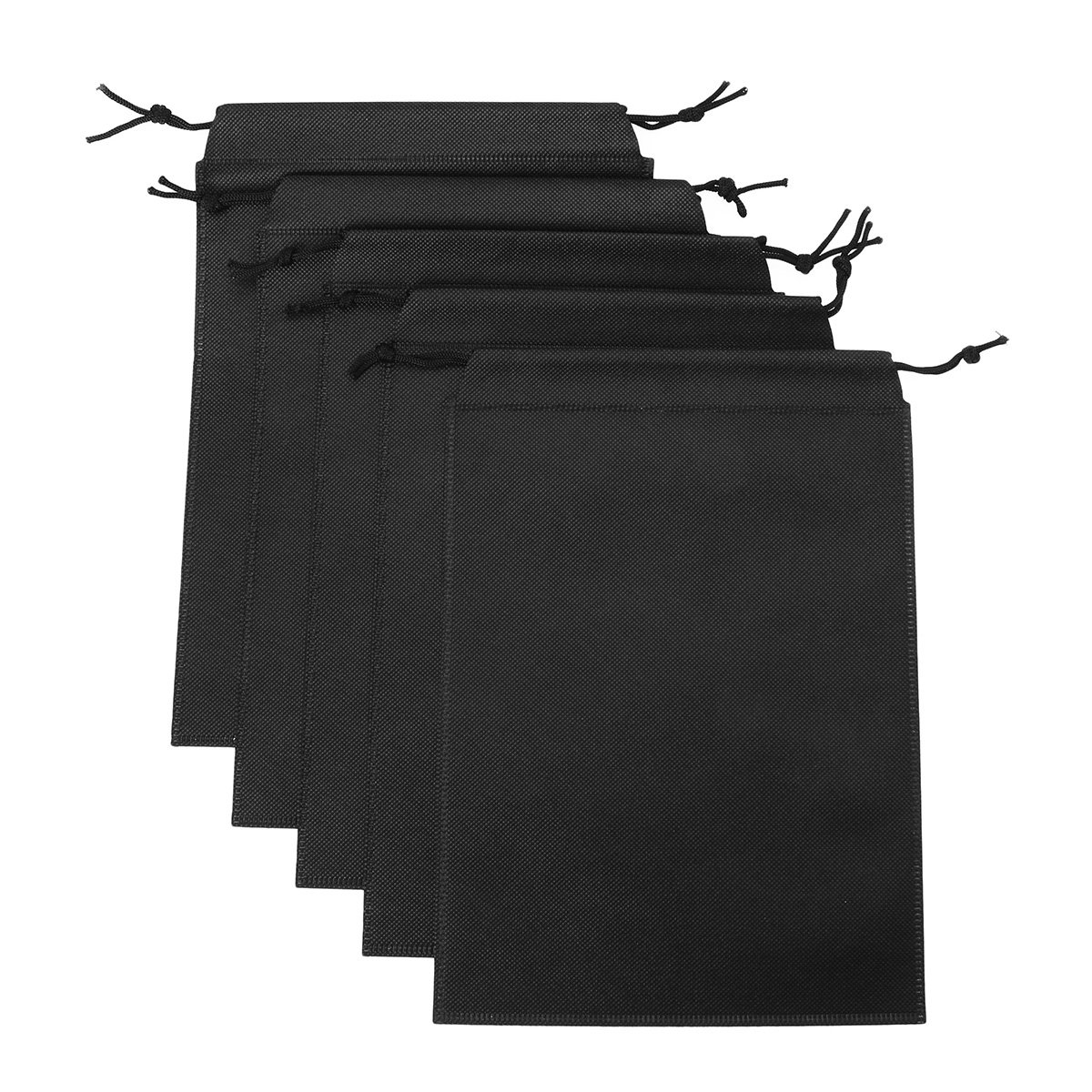 Freebily 5PCS Adult Game Toys Product Lint Drawstring Storage Bag Costume- Light Weight Black One Size